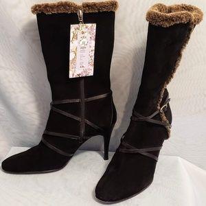 Circa Joan & David Suede Black Boots 7.5M💕